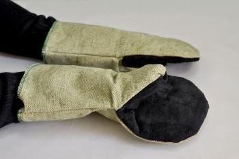 Рукавицы комбинированные брезент+спилок