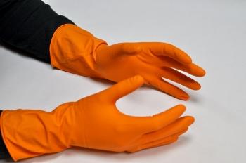 Рукавички господарські латексні, помаранчеві