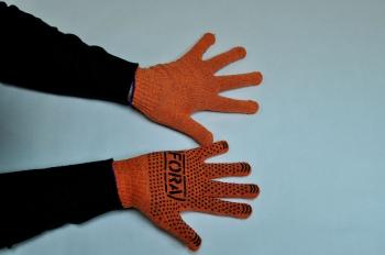 Перчатки трикотажные с ПВХ точкой эконом